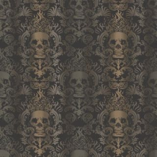 Brewster Home Fashions Totally for Kids Luther Skull 33' x 20.5'' Damask Wallpaper
