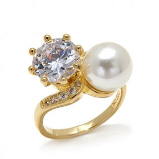 """Homage by Consuelo Vanderbilt Costin CZ and Simulated Pearl """"Eternal Enchantmen   7891221"""