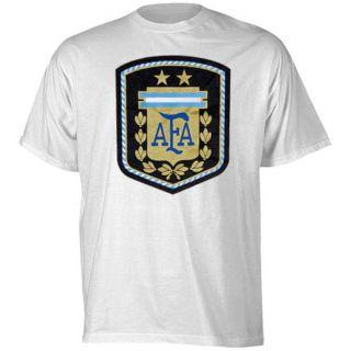 adidas Argentina White Futbol Crest T Shirt