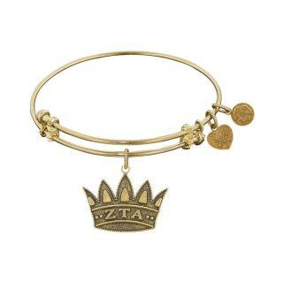 Angelica Brass Zeta Tau Alpha Fashion Charm Bracelet   16739239