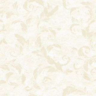 Brewster Home Fashions Artistic Illusion Edith Acanthus Brushstroke 33' x 20.5'' Floral 3D Embossed Wallpaper