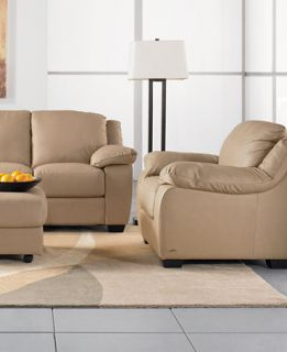 Blair Leather Sleeper Sofa Living Room Furniture Collection