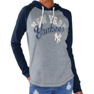 G III 4Her by Carl Banks New York Yankees Womens Gray/Navy Pump Fake Hoodie
