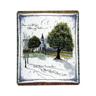 """Religious """"How Great Thou Art"""" Church Woven Afghan Throw Blanket 50"""" x 60"""""""