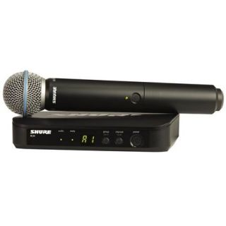 Shure BLX24 Handheld Wireless System with Beta 58A Mic, H9: 512.125 541.800MHz BLX24/B58 H9