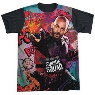 Suicide Squad Deadshot Psychedelic Cartoon Mens Sublimation Shirt