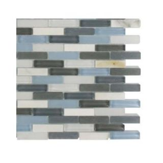 Splashback Tile Cleveland Shannon Mini Brick 3 in. x 6 in. x 8 mm Mixed Materials Mosaic Floor and Wall Tile Sample L1A5 MOSAIC TILE