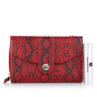 Samantha Brown Python Embossed RFID Purse with Portable Charger   7813561