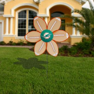 Miami Dolphins Team Ball Wind Spinner