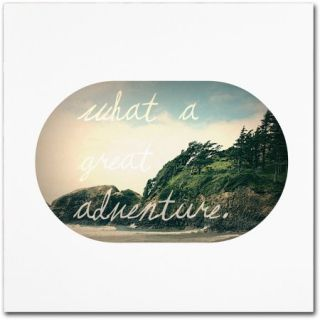 "Trademark Fine Art ""What A Great Adventure"" Canvas Art by Leah Flores"