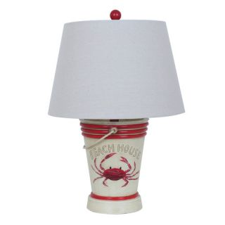 Crestview Crab 22 H Table Lamp with Empire Shade