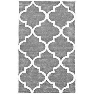 nuLOOM Cine Hand Tufted Moroccan Trellis Slate Area Rug; 76 x 96