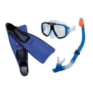 INTEX Reef Rider Youth/Adult Swimming Diving Mask, Snorkel & Fin Set  55957