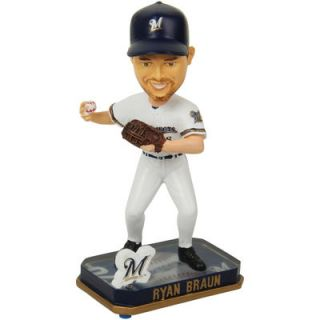 Ryan Braun Milwaukee Brewers Springy Logo Bobble Head Figurine