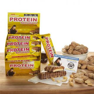 Tony Little 12 count 15 Gram Protein Sensations Bars with Personal Trainer Card Auto Ship®   Chocolate Peanut Butter Deluxe   8029758
