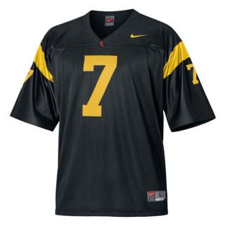Nike USC Trojans #7 Black Replica Football Jersey