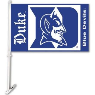 BSI Products NCAA 11 in. x 18 in. Duke 2 Sided Car Flag with 1 1/2 ft. Plastic Flagpole (Set of 2) DISCONTINUED 97039