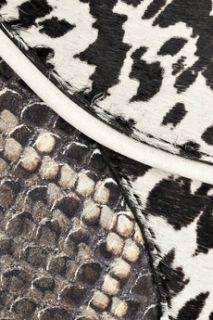 Angie leopard print calf hair shoulder bag  NewbarK