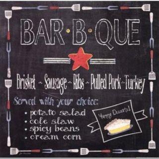 Bar B Que Poster Print by Jo Moulton (12 x 12)