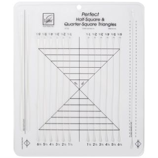June Tailor Perfect Half square & Quarter square Triangles Ruler