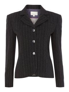 Linea Luxury wool rich pinstripe jacket