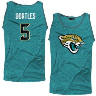 Blake Bortles Jacksonville Jaguars Majestic Threads Primary Logo Name & Number Tri Blend Tank Top   Teal