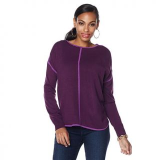 Jamie Gries Collection Contrast Trim Pullover   7825216