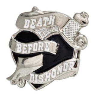 Buckle Rage Death Before Dishonor Heart Military Belt Buckle, BLACK, 379