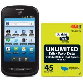 Straight Talk ZTE Merit Z990G Refurbished Prepaid Smartphone w/Bonus $45 Unlimited Plan