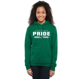 Slippery Rock Pride Womens Kelly Green Team Strong Pullover Hoodie
