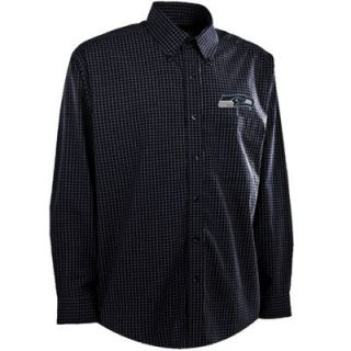 Antigua Seattle Seahawks Esteem Long Sleeve Button Down Shirt   College Navy