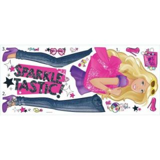 RoomMates 5 in. x 19 in. Barbie Pinktastic Peel and Stick Giant Wall Decal (15 Piece) RMK2807GM