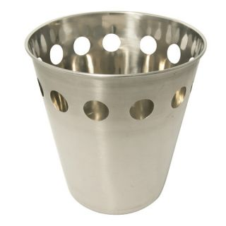 LCM Home Fashions, Inc. Round Cut Stainless Steel Wastebasket