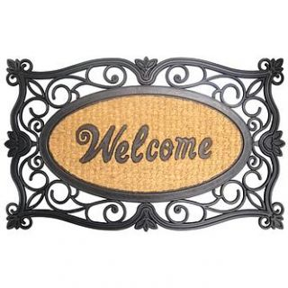 Essential Home Rubber Coir Welcome Mat   Home   Home Decor   Rugs