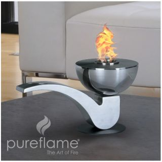 PureFlame Pureflame Pipe Stainless Steel Bio Ethanol Table Top