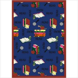 Joy Carpets Educational Bookworm Noterbook Area Rug