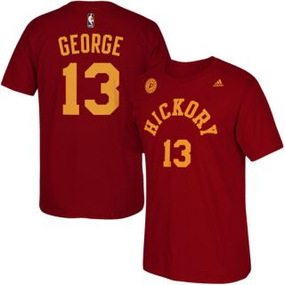 adidas Paul George Indiana Pacers Red Hickory Net Name & Number T Shirt