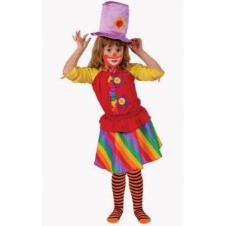 Dress Up America Rainbow Girl's Clown Costume