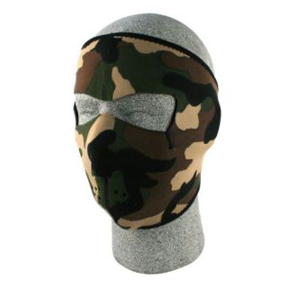Zan Headgear Neoprene Woodland Camo Face Mask  ™ Shopping