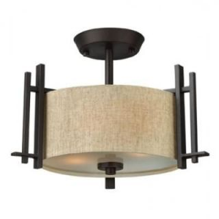 Hinkley Lighting 4541RB Sloan 2 Light Semi Flush Mount in Regency Bronze