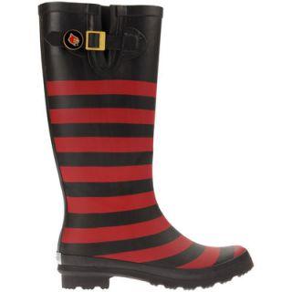 Louisville Cardinals Lillybee U Womens Rain Boots with Logo Snap