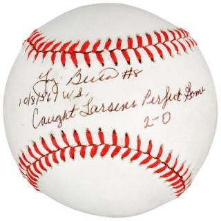 Yogi Berra New York Yankees  Authentic Autographed Baseball with 10/8/56 Caught Larsons Perfect Game 2 0 Inscription   PSA