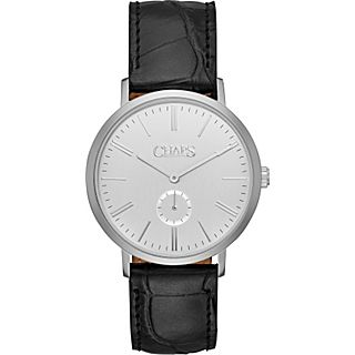 Chaps Dunham Leather Two Hand  Watch