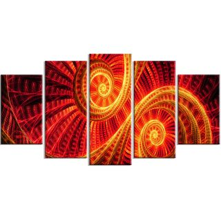 Sun Dance 5 Piece Graphic Art on Wrapped Canvas Set by DesignArt