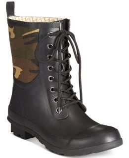 Chooka Cara Lace Up Rain Booties   Boots   Shoes