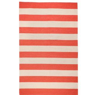 Draper Stripe Hand Woven Brick Red Rug by DwellStudio