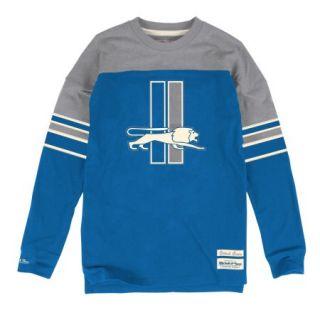 """Detroit Lions Mitchell & Ness NFL """"Pump"""" Long Sleeve Crew Shirt"""