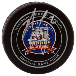 Fanatics Authentic Nick Leddy New York Islanders Autographed 43rd Anniversary Official Game Puck
