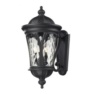Z Lite Doma 28.75 in H Sand Black Outdoor Wall Light