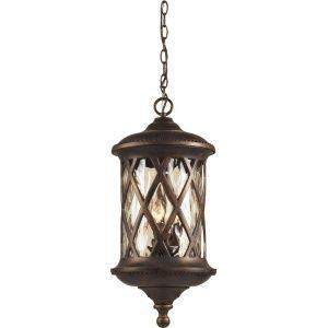 Elk Lighting 42033 3 BARRINGTON GATE Hazlenut Bronze  Outdoor Pendants Lighting